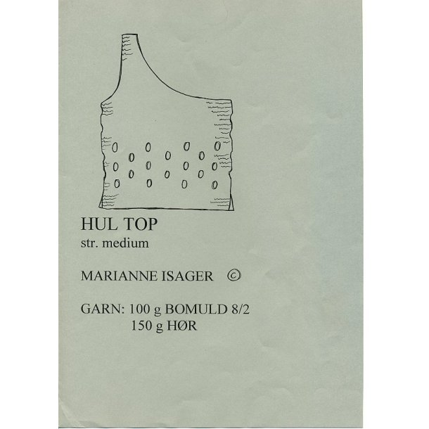 Hul top - Marianne Isager