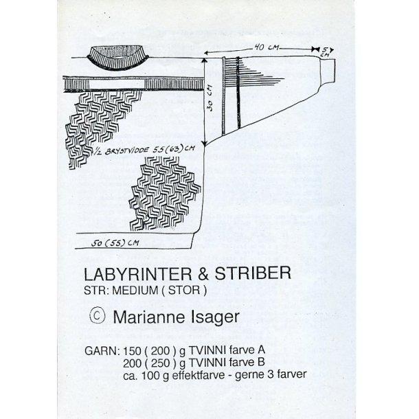 Labyrinter og striber - Marianne Isager