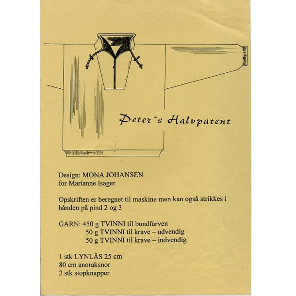 Peters Halvpatent (herre) - Marianne Isager