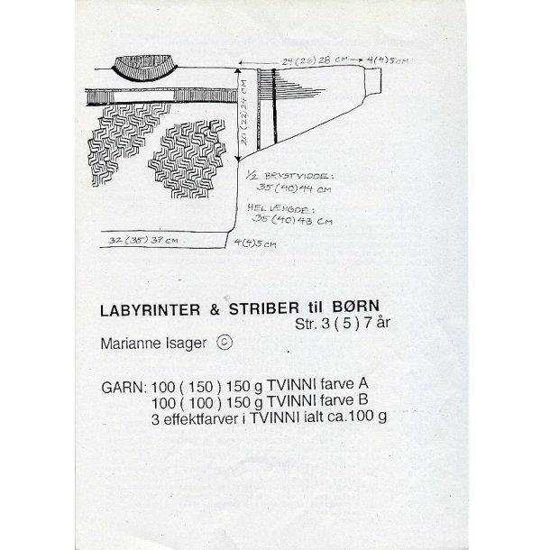 labyrinter & striber til børn - Marianne Isager