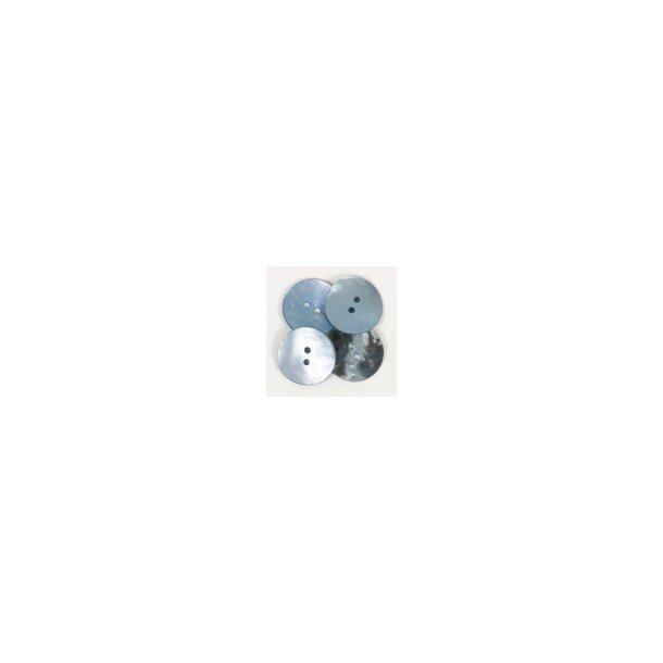 DROPS knap nr. 612: blå perlemor 20mm. Prisen er pr. stk.