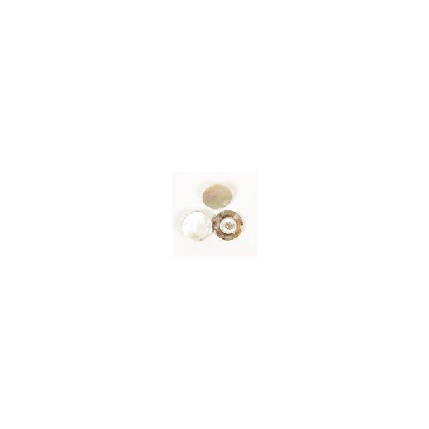 DROPS knap nr. 523: hvid perlemor u/hul 15mm.  Prisen er pr. stk.