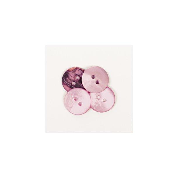 DROPS knap nr. 622: rosa perlemorsknap 15 mm. Prisen er pr. stk.